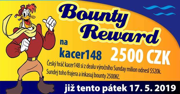 2500 CZK BOUNTY REWARD